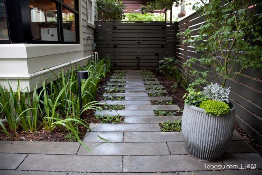 花园灰色背景墙现代风格装饰效果图