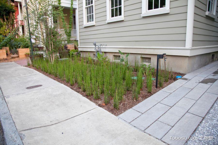 花园白色背景墙现代风格装修图片