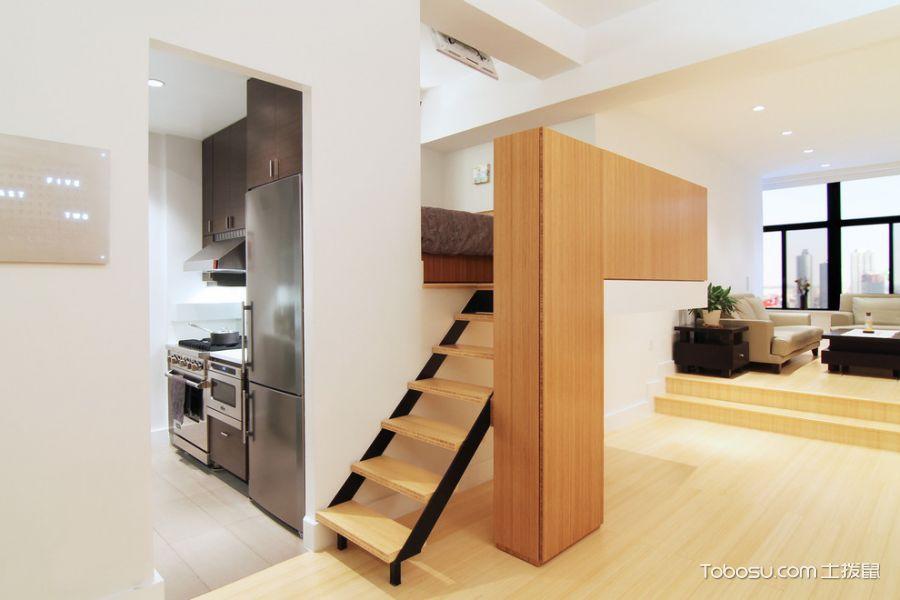 玄关黄色楼梯现代风格装潢图片