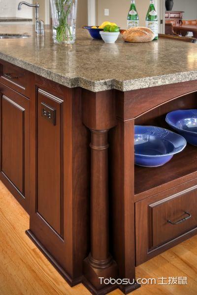 厨房咖啡色细节美式风格装潢设计图片