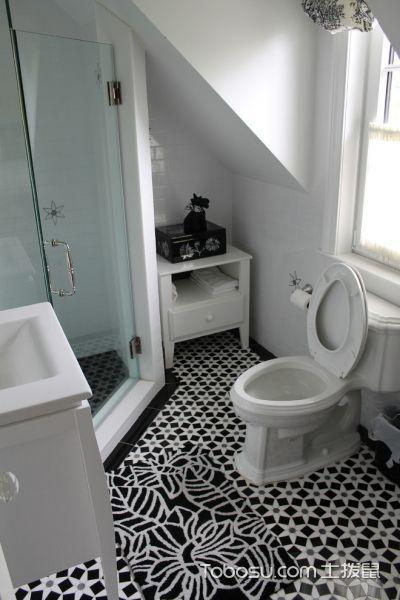卧室灰色地板砖简欧风格效果图