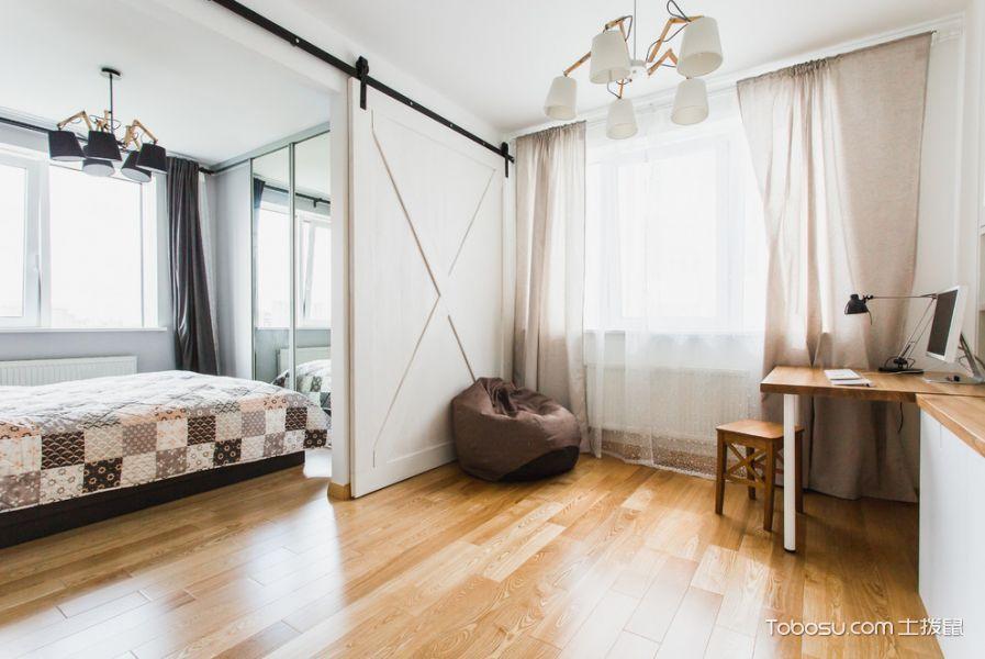 客厅地板砖北欧风格装修图片