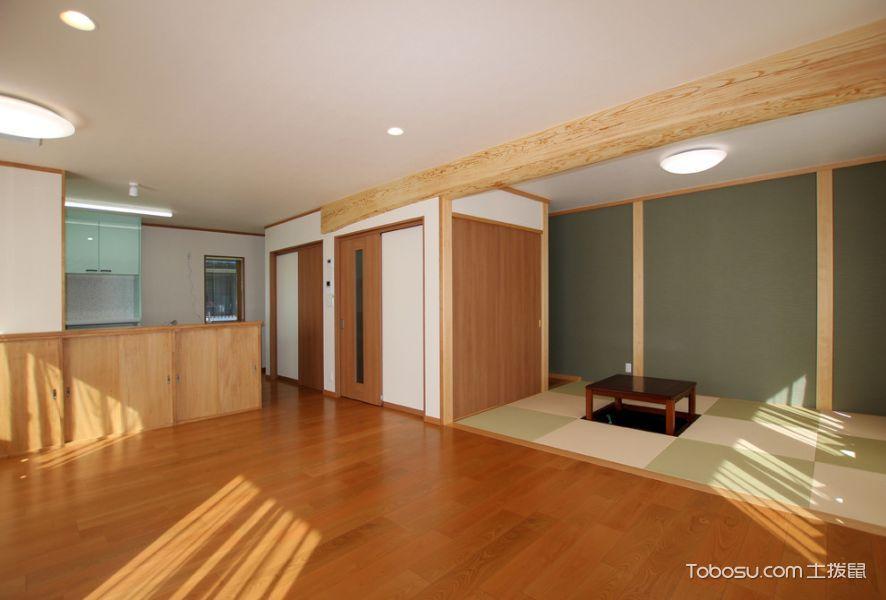 客厅咖啡色地板砖日式风格装修效果图