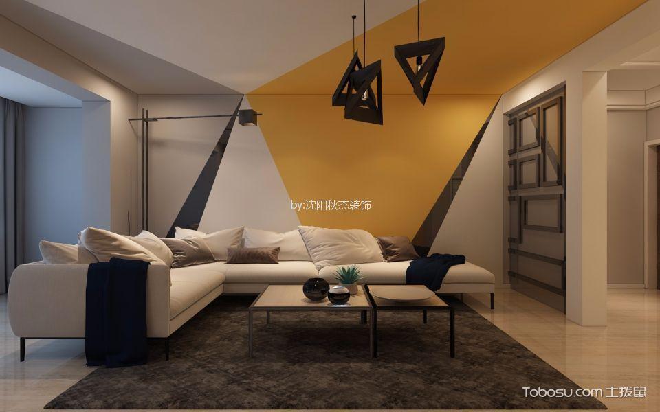 华强城80平现代风格两居室装修效果图