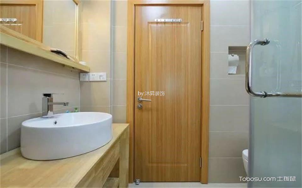卫生间 背景墙_70平米日式风格一室一厅装修效果图
