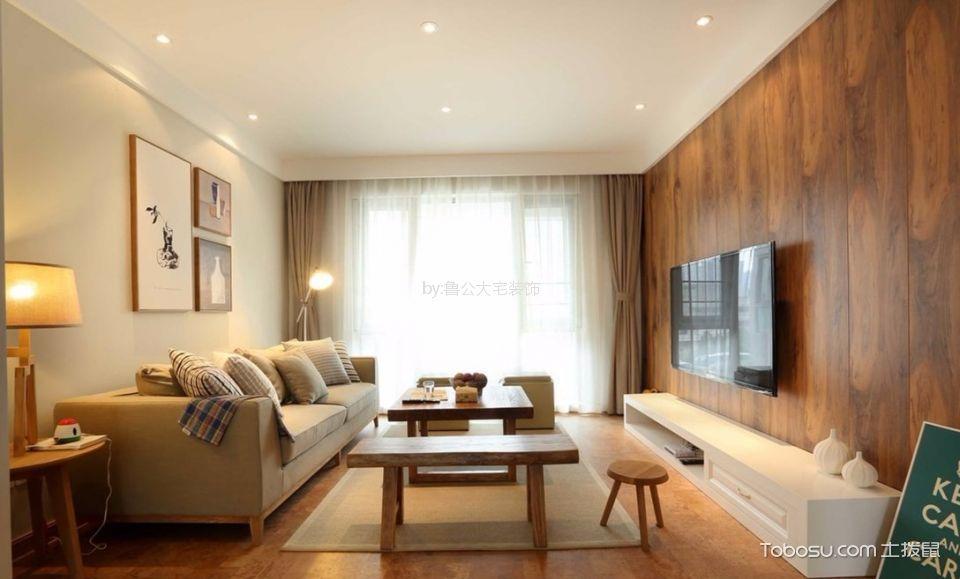 天珑广场三室两厅114平日式风格装修效果图