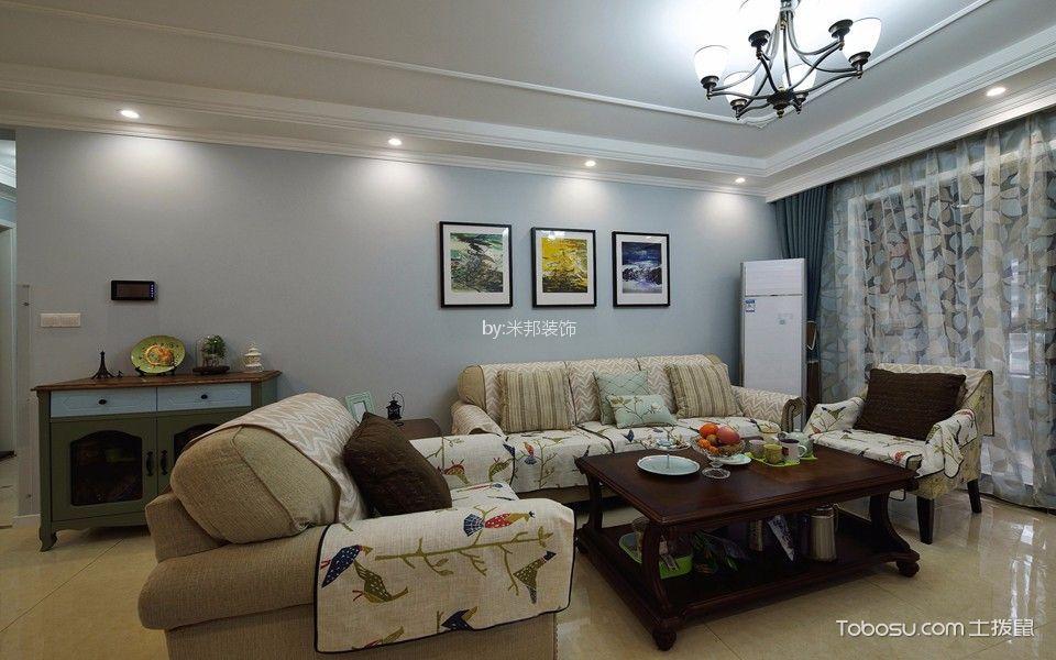 133平米美式风格三室两厅装修效果图