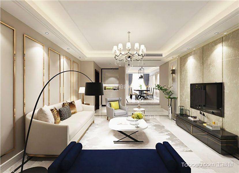 160平米现代简约风格三室二厅装修效果图