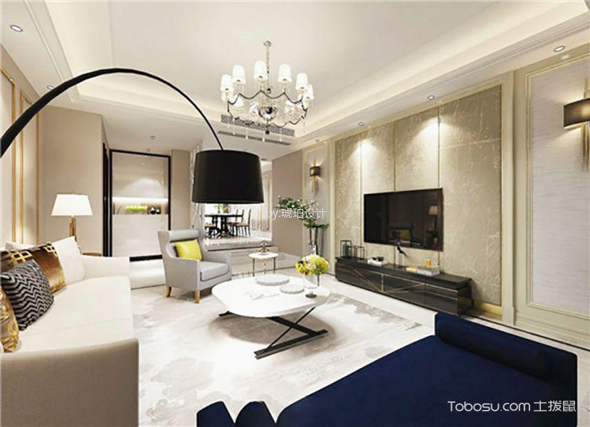 客厅黑色灯具现代简约风格装修效果图