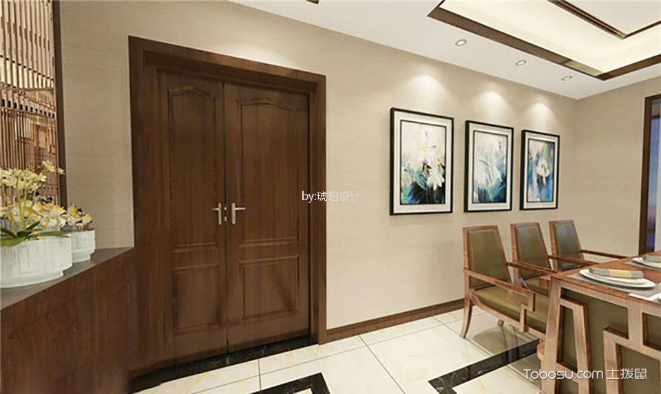 餐厅 门厅_大名城172平米新中式风格四居室装修效果图