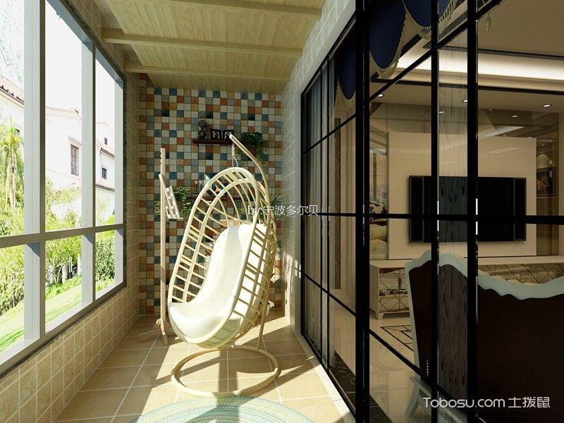 阳台 吊顶_华茂悦峰现代简约三居室138㎡效果图