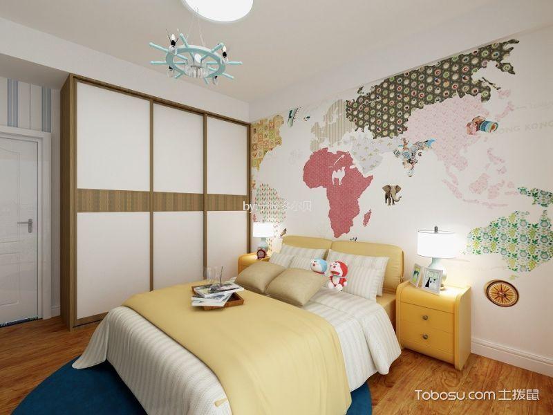 儿童房 背景墙_中海国际128平地中海风格两室装修效果图