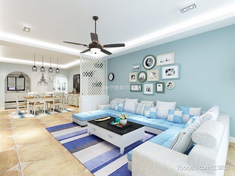 中海国际128平地中海风格两室装修效果图