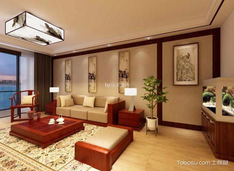 130平米三室两厅新中式风格装修效果图