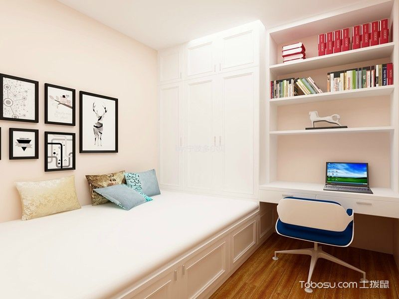美式卧室书架装修案例图片图片