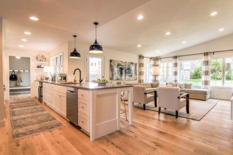 厨房北欧风格效果图大全2017图片_土拨鼠豪华清新厨房北欧风格装修设计效果图欣赏