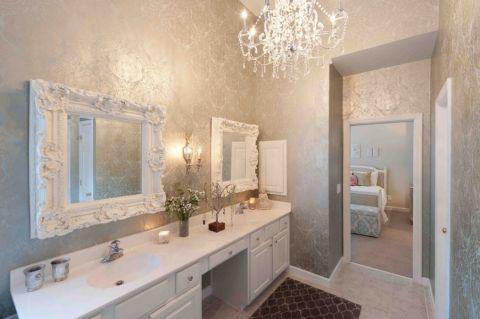 浴室简欧风格效果图大全2017图片_土拨鼠简洁自然浴室简欧风格装修设计效果图欣赏