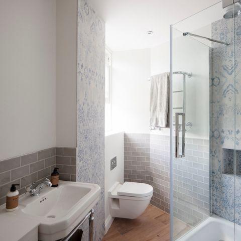 浴室简欧风格效果图大全2017图片_土拨鼠简约淡雅浴室简欧风格装修设计效果图欣赏