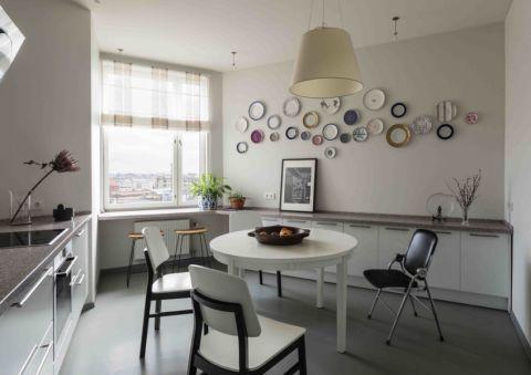 厨房北欧风格效果图大全2017图片_土拨鼠温馨清新厨房北欧风格装修设计效果图欣赏