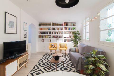 客厅北欧风格效果图大全2017图片_土拨鼠个性纯净客厅北欧风格装修设计效果图欣赏