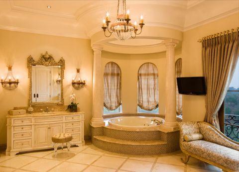 浴室地中海风格效果图大全2017图片_土拨鼠个性风雅浴室地中海风格装修设计效果图欣赏