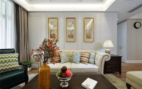 太平洋大厦美式风格120平三室两厅一卫装修效果图
