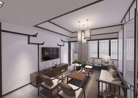 179平米新中式风格二室两厅跃层装修效果图