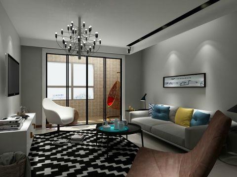 万科江东府现代简约风格138平米二居室装修效果图