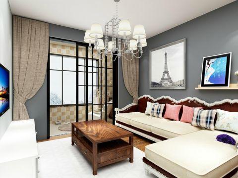 2018美式90平米效果图 2018美式二居室装修设计