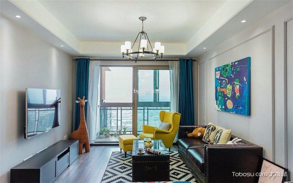 弓箭坊高层住宅小区90平三室一厅一卫装修效果图