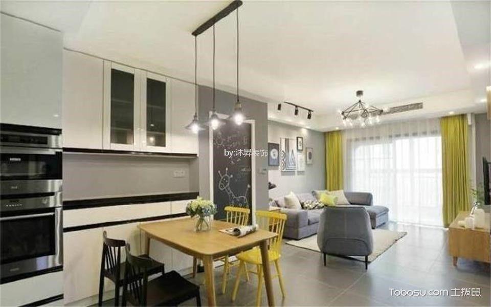 亿达蓝湾100㎡轻奢现代风格三居室装修效果图