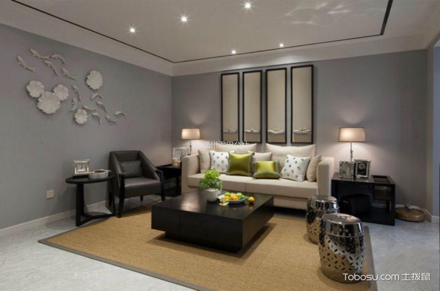 世贸上游墅90平两室两厅简约中式装修风格效果图