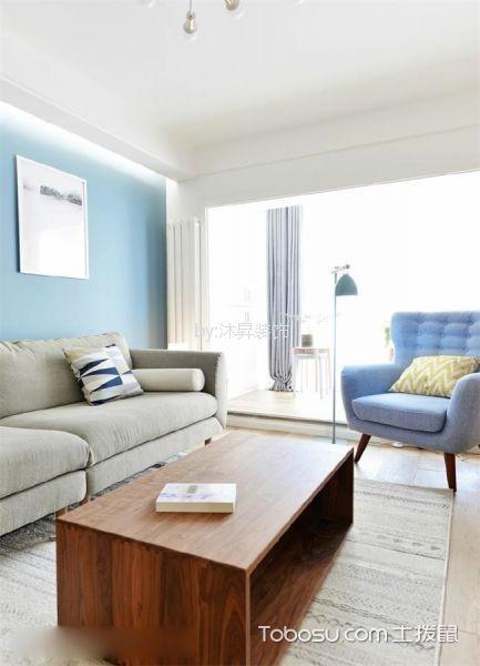 华宝豪庭80平清新北欧日式混搭两居室装修效果图