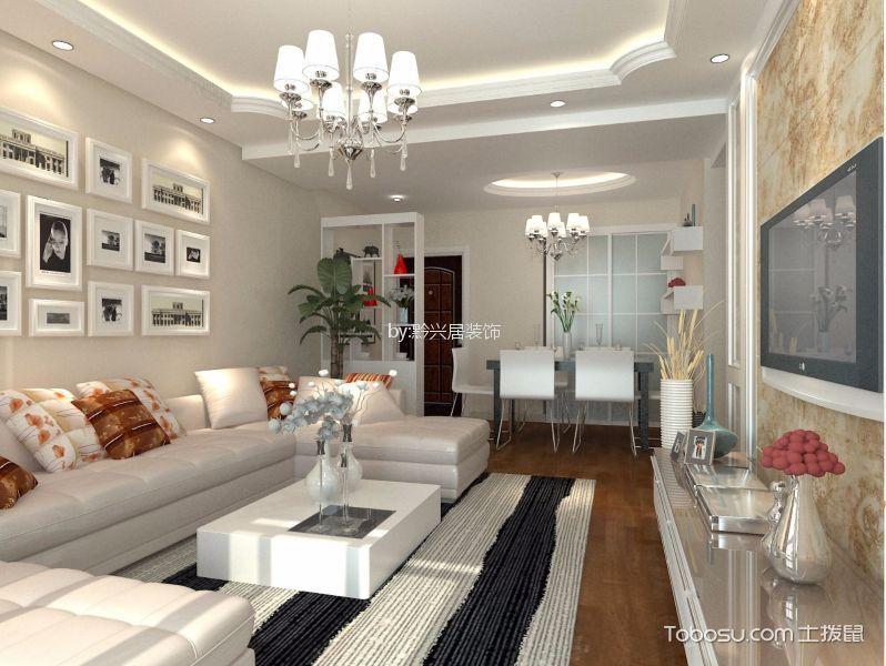 恒大中央公园132平方简欧风格三居室装修效果图