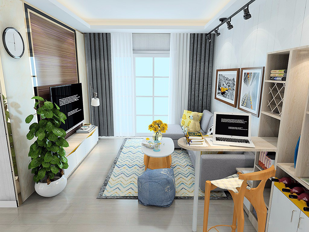2室1卫1厅89平米简约风格