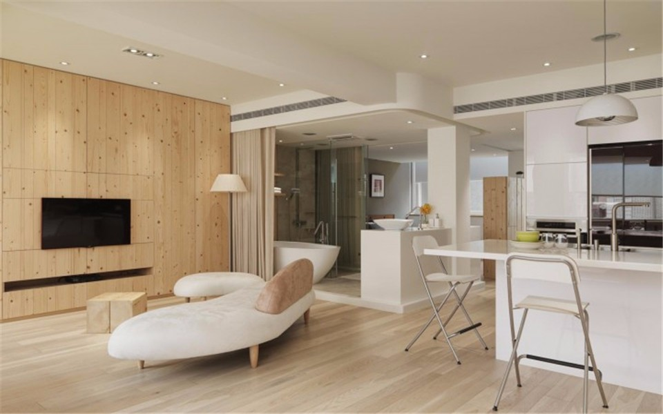 3室1卫2厅137平米简约风格