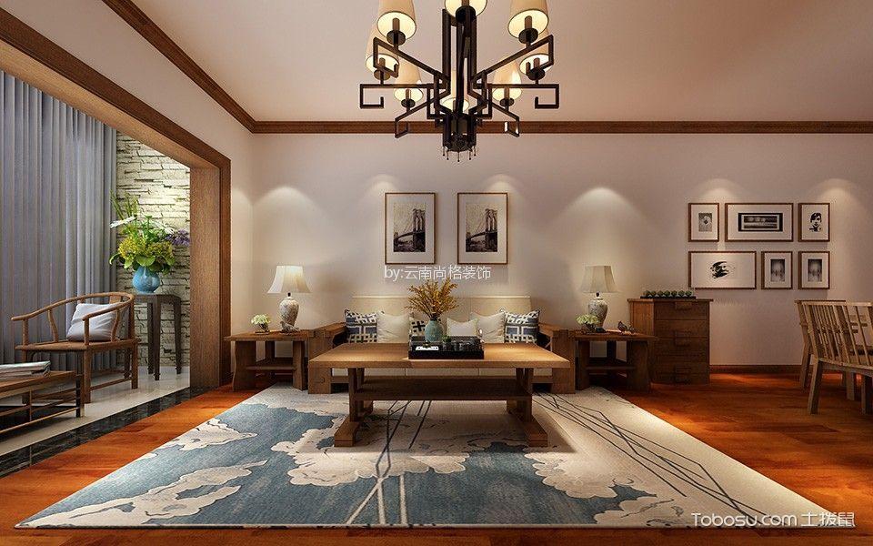 昆明湖澜庭138平米四居室新中式风格装修效果图