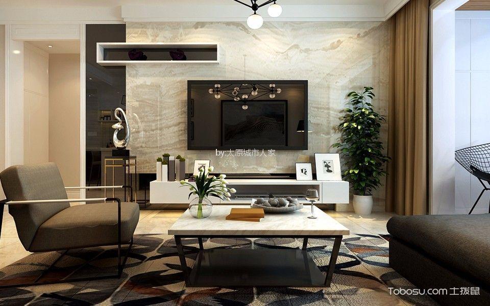 万水澜庭现代简约风格三居室装修效果图