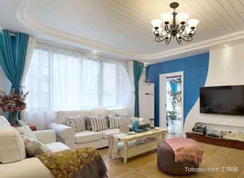 厚德福城116平地中海风格三居室装修效果图