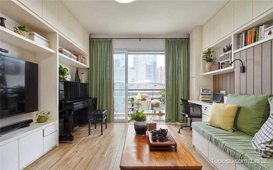 中大十里新城124平三室美式风格装修效果图