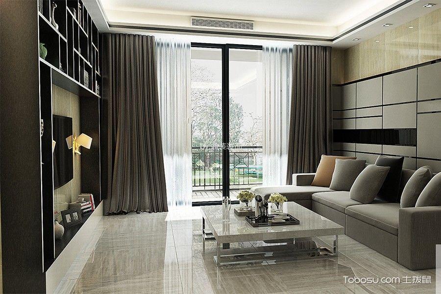 富力碧涛湾80平方12万简约风格二居室装修效果图