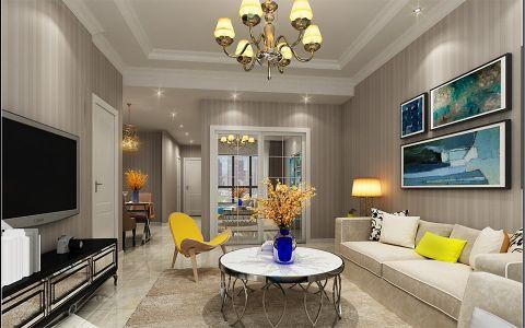 2021简欧90平米效果图 2021简欧三居室装修设计图片