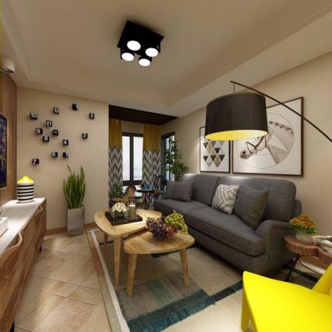 北大资源60平简约风格二居室装修效果图