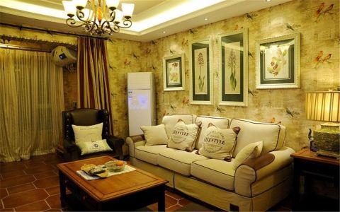 银泰御华园133平美式田园风格三房装修效果图