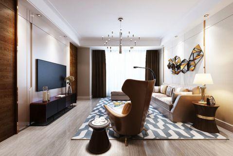 綠都萬和城121平米簡約風格三居室裝修效果圖