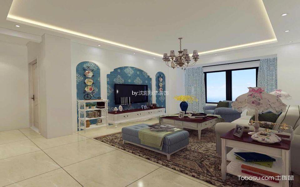 碧桂园学府一号76平两室地中海风格效果图