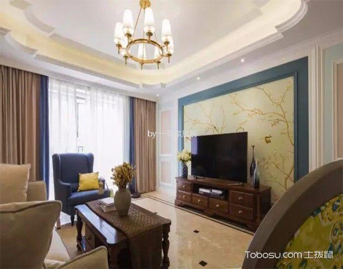 雅居乐国际花园160平美式风格四居室装修效果图