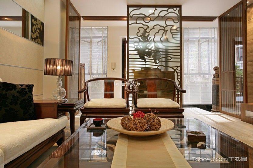泊雅湾120平方四居室新中式风格装修效果图