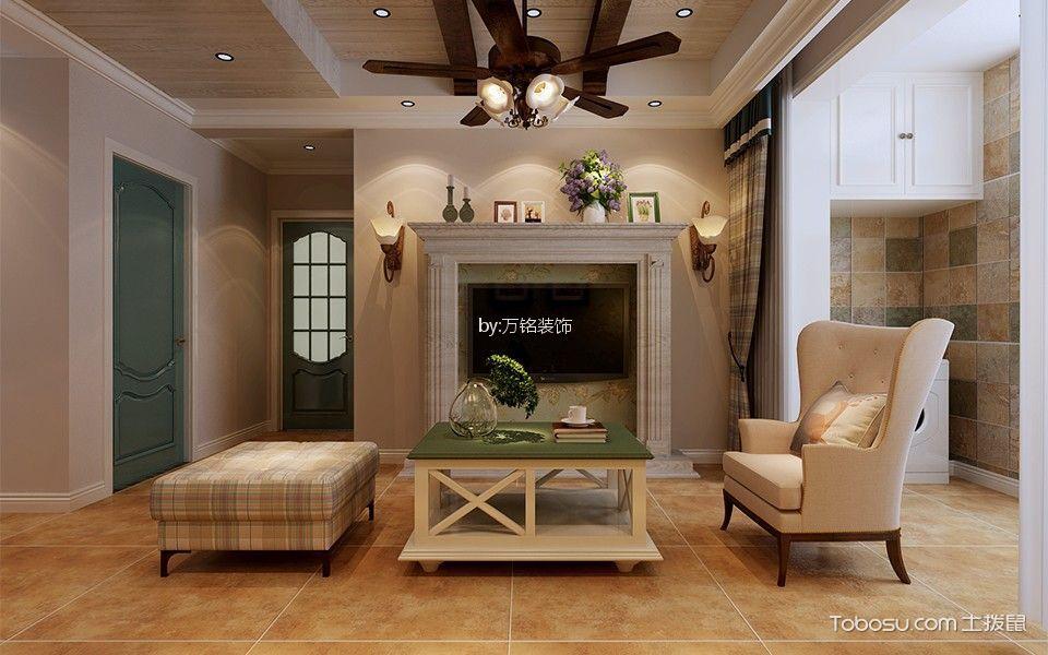 百协大溪地简美风格两居室装修效果图