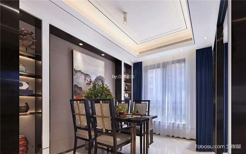 西安龙湖香缇国际社区140平米中式风格效果图